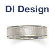 DI Design Hammered Two-tone Wedding Band