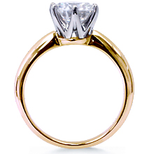 Cust. Crowne Tiffany-Style 2-Tone Engagement Ring: (/images/Items/36.jpg) Tiffany,crown,6 prong,Engagement ring,wedding ring,engagement rings,diamond engagement rings