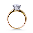 Cust. Crowne Tiffany-Style 2-Tone Engagement Ring