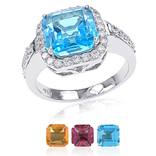 Changeable Square Cut Ring: (/images/Items/387.jpg) Changeables,Fashion Ring,Gold,engagement rings,diamond engagement rings