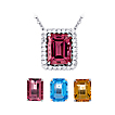 Changeable Emerald Cut Pendant