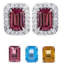 Changeable Emerald Cut Earrings: (/images/Items/391.jpg) Changeable,Fashion Jewelry,gold earrings,engagement rings,diamond engagement rings