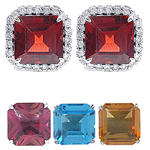 Changeable Square Cut Earrings: (/images/Items/393.jpg) Changeables,earrings,fashion jewelry,engagement rings,diamond engagement rings