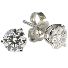 3-Prong Earring Studs: (/images/Items/4.jpg) earrings,engagement rings,diamond engagement rings