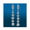 Marquis Pavé 5st Graduated Earrings ER1545