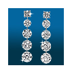 Scintillating 5st Graduated Earrings ER1486