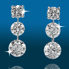 Scintillating 3st Graduated Earrings ER1484: (/images/Items/427.jpg) ,engagement rings,diamond engagement rings