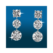 Scintillating 3st Graduated Earrings ER1484