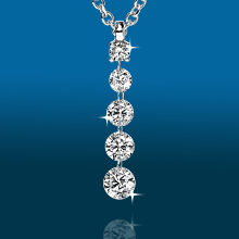 Scintillating 5stone Graduated Pendant PD1939: (/images/Items/429.jpg) ,engagement rings,diamond engagement rings