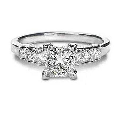 Channel-Set Princess Engagement Ring by Stardust: (/images/Items/43/pic2.jpg) Stardust Diamonds - Engagement Ring,engagement rings,diamond engagement rings