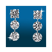 Scintillating 3st STraight Earrings ER1483