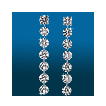 Scintillating 7st Straight Earrings ER1496