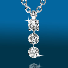 Scintillating 3stone Straight Pendant PD1937: (/images/Items/433.jpg) ,engagement rings,diamond engagement rings