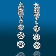 Marquis Pavé 3st Graduated Earrings ER1560: (/images/Items/435.jpg) ,engagement rings,diamond engagement rings