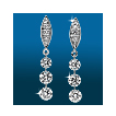 Marquis Pavé 3st Graduated Earrings ER1560