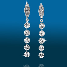 Marquis Pavé 5st Straight Earrings ER1535: (/images/Items/436.jpg) ,engagement rings,diamond engagement rings