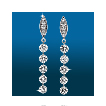 Marquis Pavé 5st Straight Earrings ER1535