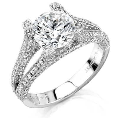 ring prong rounded rings shank four engagement