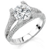 Split-Shank Engagement Ring by Stardust Designs