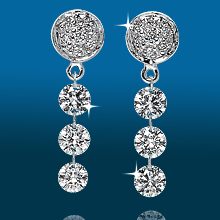 Round Pavé 3st Graduated Earrings ER1536: (/images/Items/439.jpg) ,engagement rings,diamond engagement rings