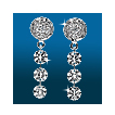 Round Pavé 3st Graduated Earrings ER1536