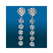 Round Pavé 5st Graduated Earrings ER1537