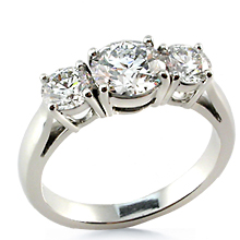 Three Stone Cathedral Platinum Anniversary Ring: (/images/Items/46.jpg) past,present,future,three stone ring,ring,engagement,anniversary,wedding rings,engagement ri,engagement rings,diamond engagement rings