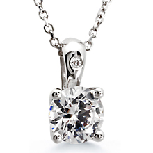 St. Tropez Solitaire Pendant: (/images/Items/53.jpg) Pendant,St. Tropez,Solitaire,love,sweet 16,platinum,gold,chain,engagement rings,diamond engagement rings