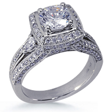 Fancy Split Shank Pave Engagement Ring: (/images/Items/589.jpg) engagement ring,wedding,platinum,gold,diamond,engagement rings,diamond engagement rings