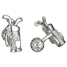 Rotenier Golf Bag and Ball Cufflinks: (/images/Items/591.jpg) golf,bag,cufflinks,ball,cuff links,silver,engagement rings,diamond engagement rings