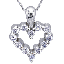 Small Heart of Diamonds Pendant: (/images/Items/618.jpg) ,engagement rings,diamond engagement rings