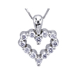 Small Heart of Diamonds Pendant