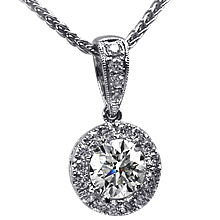 Diamond Bezel Pendant: (/images/Items/622.jpg) pendant,bezel,gold,platinum,engagement rings,diamond engagement rings