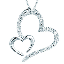 Double Heart Pendant: (/images/Items/634.jpg) ,engagement rings,diamond engagement rings
