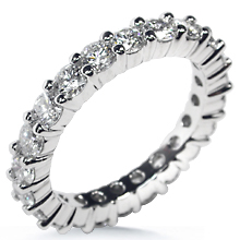 Shared Prong Eternity Ring: (/images/Items/79.jpg) eternity ring,wedding band,engagement ring,gold,platinum,engagement rings,diamond engagement rings
