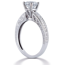 Solitaire Engagement Ring: (/images/Items/ENR1756_Angle.jpg) Gold Platinum Diamond Ring ,engagement rings,diamond engagement rings