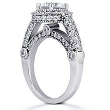 Pavé Halo Engagement Ring: (/images/Items/ENR6351_Angle.jpg) Gold Platinum Diamond Ring ,engagement rings,diamond engagement rings
