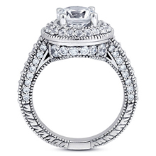 Pavé Halo Engagement Ring: (/images/Items/ENR6535_Side.jpg) Gold Platinum Diamond Ring ,engagement rings,diamond engagement rings