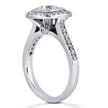 Pavé Halo Engagement Ring: (/images/Items/ENR7106_Angle.jpg) Gold Platinum Diamond Ring ,engagement rings,diamond engagement rings