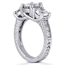 Engagement ring with Side Stones: (/images/Items/ENR740_Angle.jpg) Gold Platinum Diamond Ring ,engagement rings,diamond engagement rings
