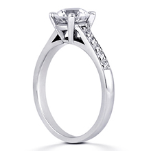 Engagement ring with Side Stones: (/images/Items/ENR7542_Angle.jpg) Gold Platinum Diamond Ring ,engagement rings,diamond engagement rings