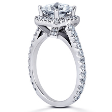 Pavé Halo Engagement Ring: (/images/Items/ENR7898_Angle.jpg) Gold Platinum Diamond Ring ,engagement rings,diamond engagement rings