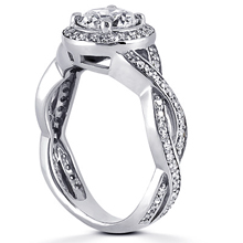 Pavé Halo Engagement Ring: (/images/Items/ENR8660_Angle.jpg) Gold Platinum Diamond Ring ,engagement rings,diamond engagement rings