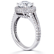 Pavé Halo Split-Shank Engagement Ring