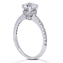 Engagement ring with Side Stones: (/images/Items/ENR8730_Angle.jpg) Gold Platinum Diamond Ring ,engagement rings,diamond engagement rings