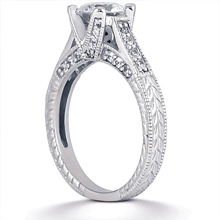 Engagement ring with Side Stones: (/images/Items/ENS1015-A_Angle.jpg) Gold Platinum Diamond Ring ,engagement rings,diamond engagement rings
