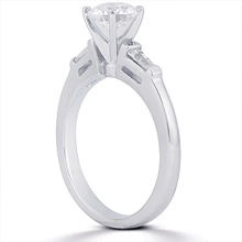 Engagement ring with Side Stones: (/images/Items/ENS102-A_Angle.jpg) Gold Platinum Diamond Ring ,engagement rings,diamond engagement rings