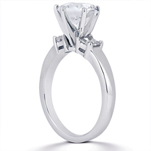 Engagement ring with Side Stones: (/images/Items/ENS1024-A_Angle.jpg) Gold Platinum Diamond Ring ,engagement rings,diamond engagement rings