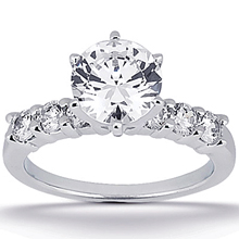 Engagement ring with Side Stones: (/images/Items/ENS1037-A_Top.jpg) Gold Platinum Diamond Ring ,engagement rings,diamond engagement rings
