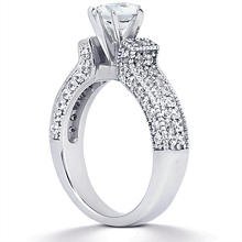 Engagement ring with Side Stones: (/images/Items/ENS1048-A_Angle.jpg) Gold Platinum Diamond Ring ,engagement rings,diamond engagement rings